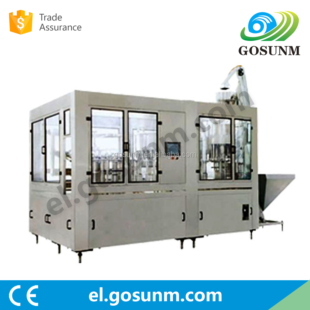 Automatic juice tea beverage bottle washing filling capping machine price