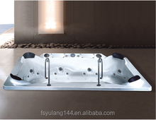 AD-812 China bathtub factory supply 4 person fiberglass drop-in whirlpool jacuzzy swimming pool