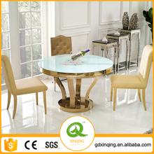 Modern Design Round 4 Seater Glass Dining Table TH347
