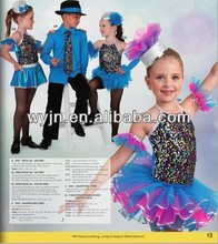 feather skirt girl's dance dress with boy's costumes-school girl costume
