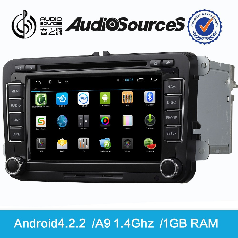 android 4.2.2 system for VW golf 5 golf 6 car multimedia car stereo with radio 3G WIFI TV SD USB phonebook