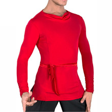 Popular Latin Dance Shirts For Males Vary Color Dance 2 Sleeve Tops Clothes Men Professional Ballroom Party Practice Wears