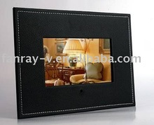 7 inch multi-functional leather digital photo frame