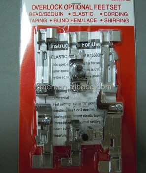 Domestic overlock sewing machine parts overlock optional feet set