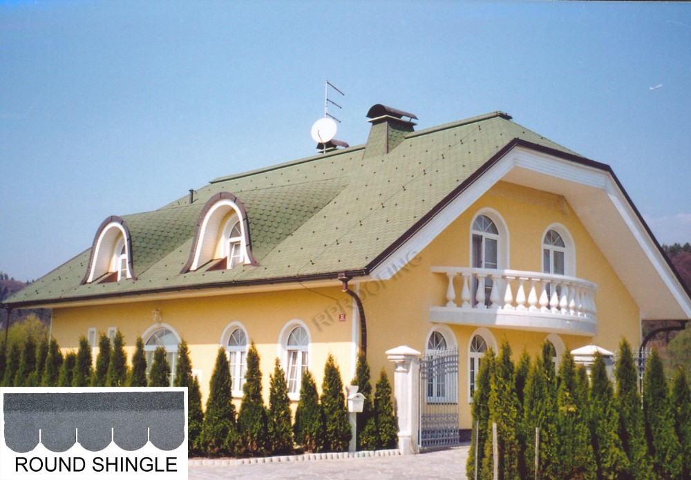 [Roof shingle tiles manufacturer] Hotsale round fiberglass asphalt roofing shingles prices, cheap building materials