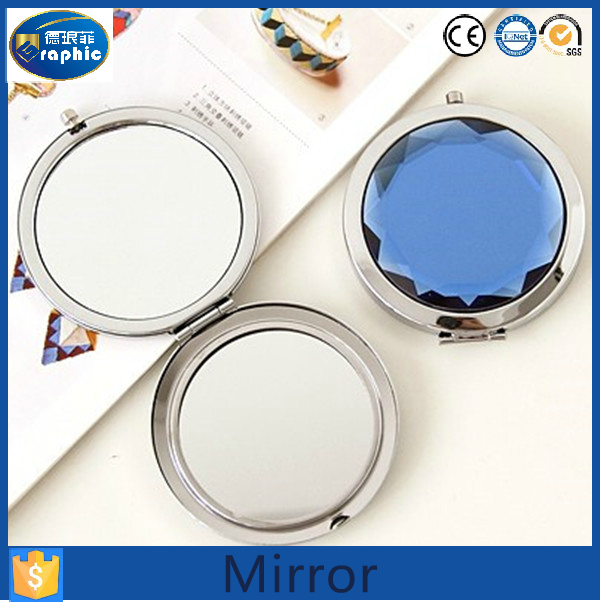 Unbreakable diamond frame sublimation makeup mirror for ikea