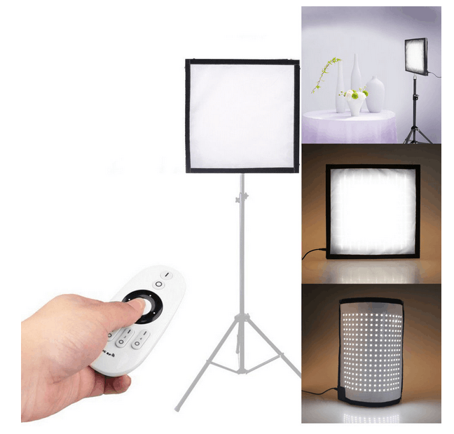 LED Light 5600K CRI95+ 34W Max.Cloth Roll-up lights Handheld LED Video Photography Film Fill-in Light Panel