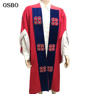 Customized academic master Graduation Gown/robe