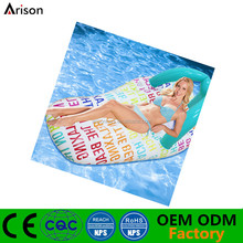 Inflatable stocking customized thong shaped floating mattress inflatable slipper shaped floating mattress for pool toys