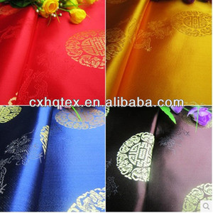 2014 dew design floral printed satin fabric for chinese dress