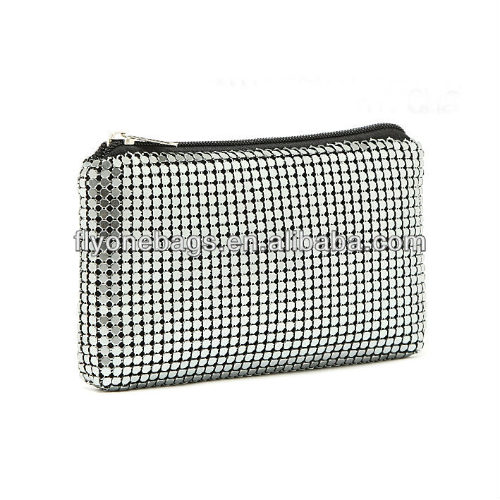 Fashion lady aluminum clutch evening bags