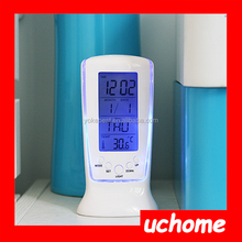 UCHOME 3 in 1 Light Calendar Thermometer Grandfather Clock With Birthday Reminding