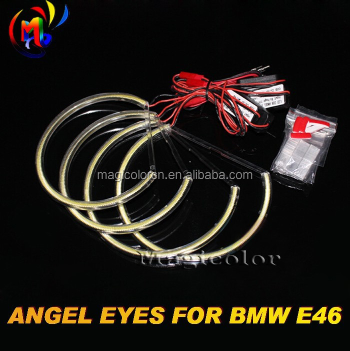 High Quality 131mm semi-circle ring cob led angel eyeS ring for bmw e46 angel eyes