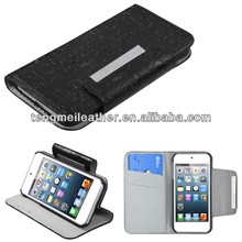 Leather Wallet Case For iPod Touch 5,For Ipod Touch 5 Minions Case,For Ipod Touch 5 Case