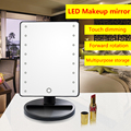 LED Touch sensing Tabletop Makeup Mirror with 16 lights