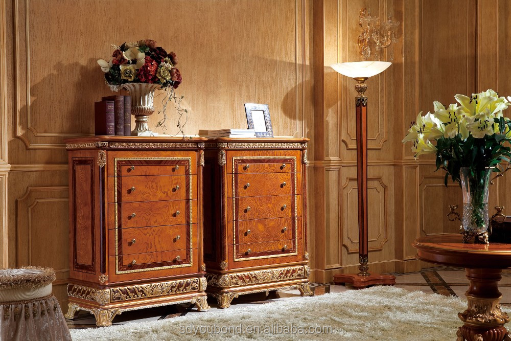 0062-2 Italian design solid wood bedroom furniture set