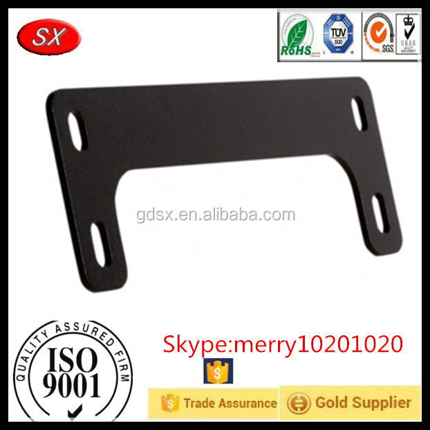 Customized Motorcycle License Plate Frame Adjustable Mounting Bracket