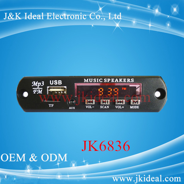 JK6836 SD USB MP3 MP4 Player Module Decoder Audio Amplifier Module