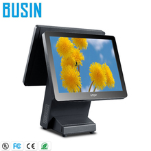 High quality fanless touch screen pos terminal with thermal printer and cash drawer