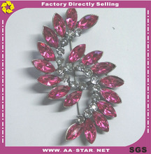 China wholesale bling bling jewlery 5.5X8cm brooch for ladies