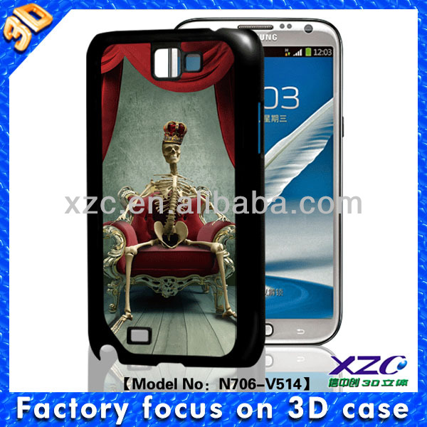 fancy case for samsung galaxy note 2 with skull image
