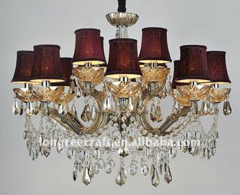 Top Crystal Chandelier Light at Dining Room