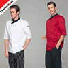 New fashion High Grade half Sleeves Restaurant Hotel Chef Coats Jackets white restaurant uniform