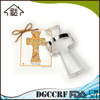 Fancy Cross Cookie And Fondant Cutters Metal Cutter With Handle