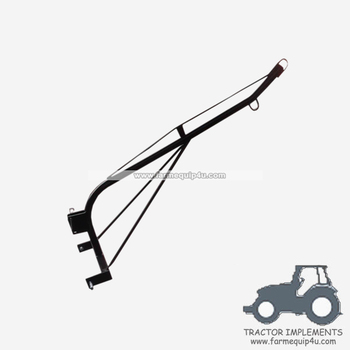 Tractor 3 point boom pole; tractor implements engine crane