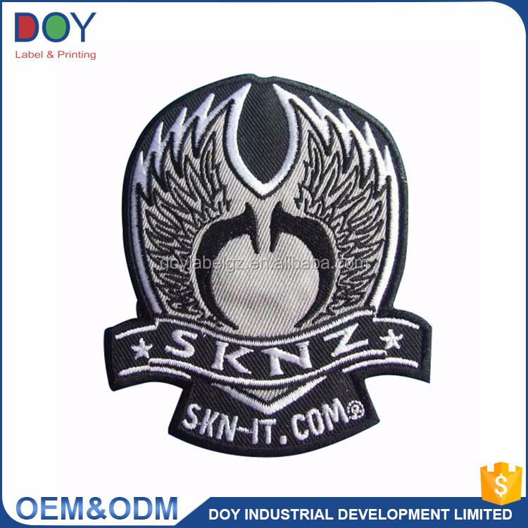 Wholesale Good Quality Low MOQ Custom Brand Logo Weaving Machine Woven Patch for Clothing
