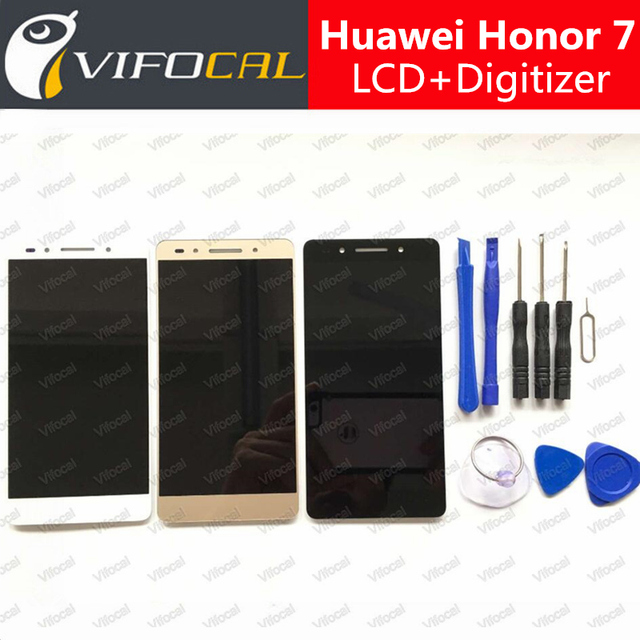 LCD Display + Touch Screen 100% New Digitizer Assembly Replacement Accessories For Huawei Honor 7