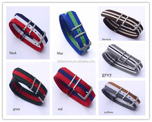 New Fashion nylon watchband steel buckle.hot selling waterproof Straps sport wrist NATO watch band Multi color
