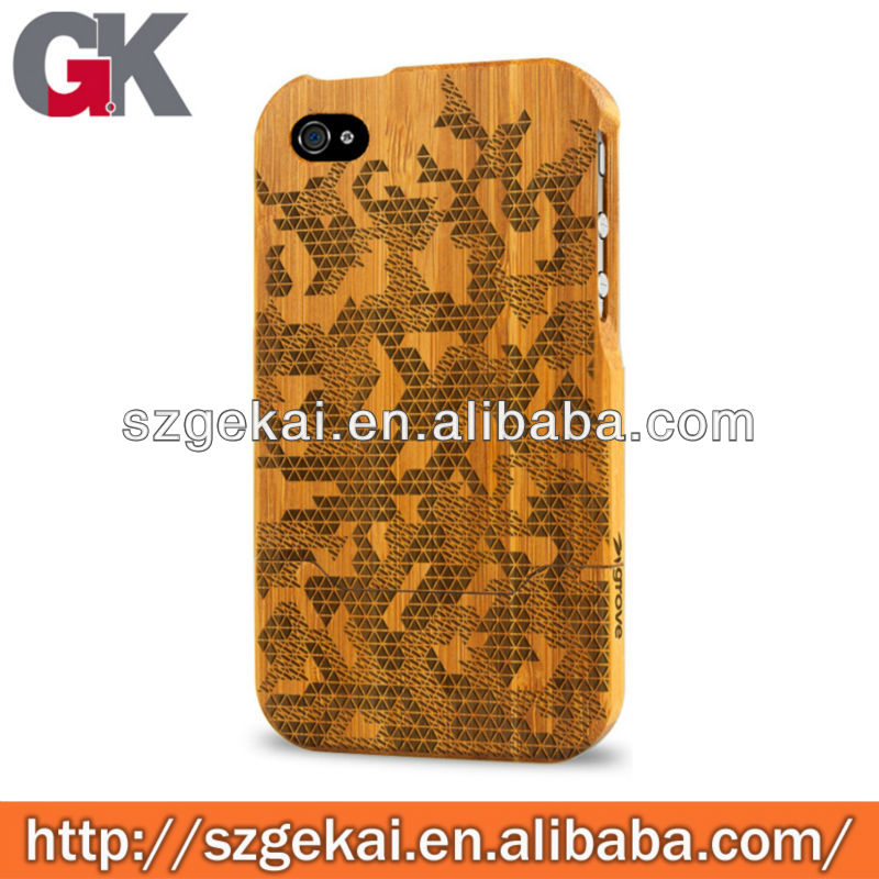 machine carve case wooden case for iphone4s