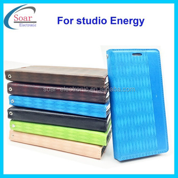 geometric pattern leather wallet pouch style pouch foldable case for Blu studio Energy