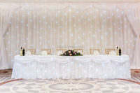 wedding event backdrop hotsales new design satin material table cloth napkins