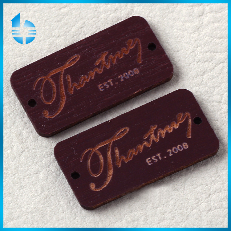 China factory custom wooden tag label for christmas gift