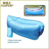 Plastic high quality inflatable travel sleeping bags made in China