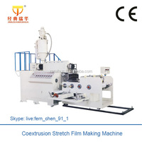 Cast Stretch Film Manufacturing Machine Plastic Double Screw Extruder