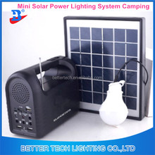 Mini Portable 5W Solar Home Light System 2 Lamps Solar Power Panel System Kit USB output for Camping / Hiking / Home Use