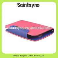 13038 China supplier Hot pink genuine leather stand phone pouch for galaxy s4