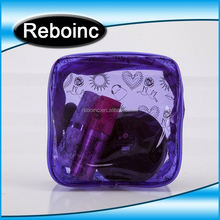 Funny mini PVC makeup cosmetic bag with zip- lock on top