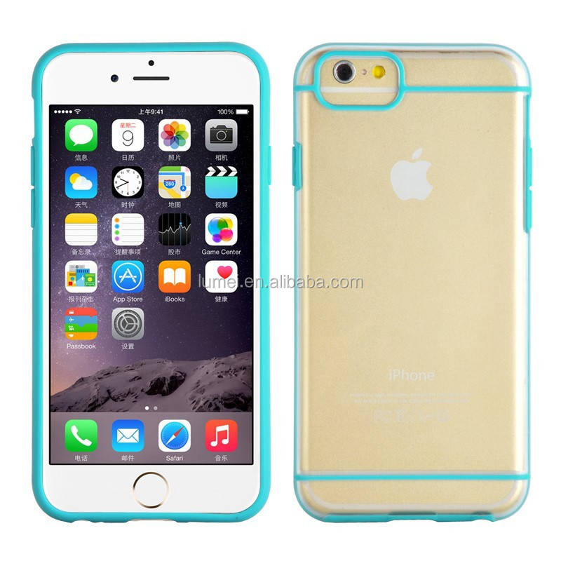 Thin TPU Cell Phone Case Transparent Back Rubber Ultra Protective Cover For Iphone6 , for iphone 6case