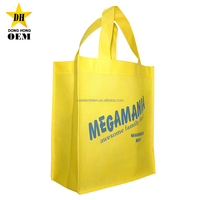 cheap custom logo tote recyclde resuable polypropylene non-woven shopping bags
