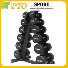 Wholesale PIO Fixed Round Rubber Coated Dumbbell