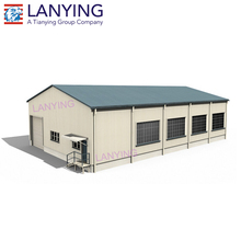 H steel structure L shape warehouse for producing line equipment