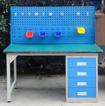 2017 NEW arrival heavy duty electronic workbench with drawer cabinet