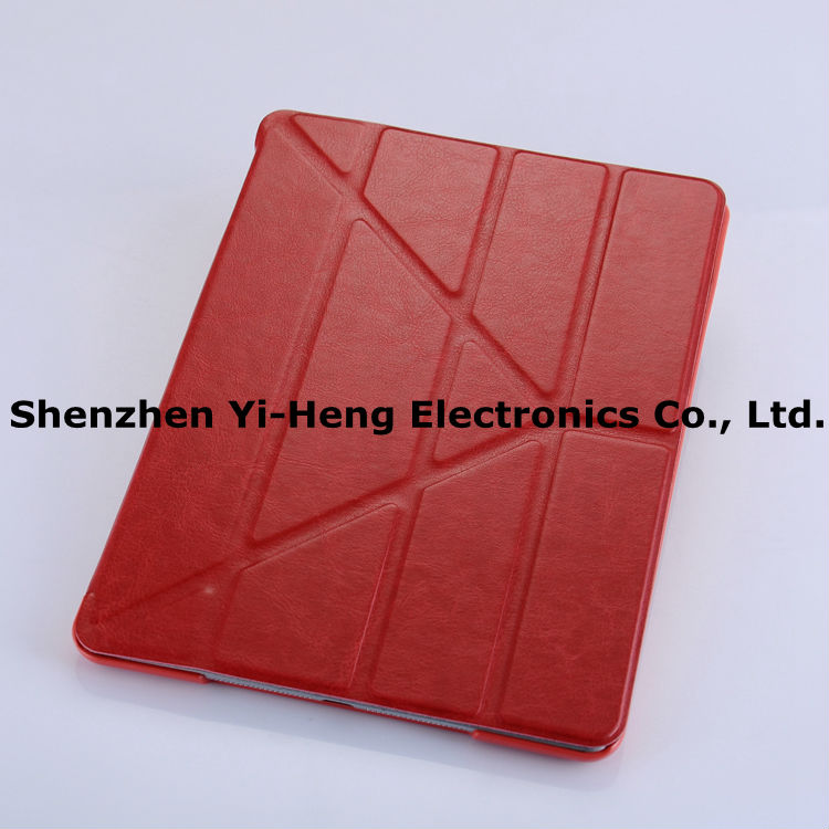Ultra Thin Magnetic with Stand PU Leather case for iPad Mini Leather Smart Cover New Arrival PU Front Plastic Back Cover