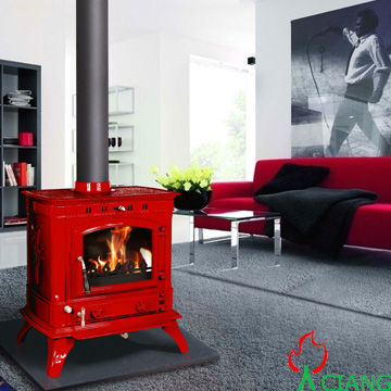 Cast Iron Glass Door Wood Burning Fireplace&Parts,heating area 90-300sqm