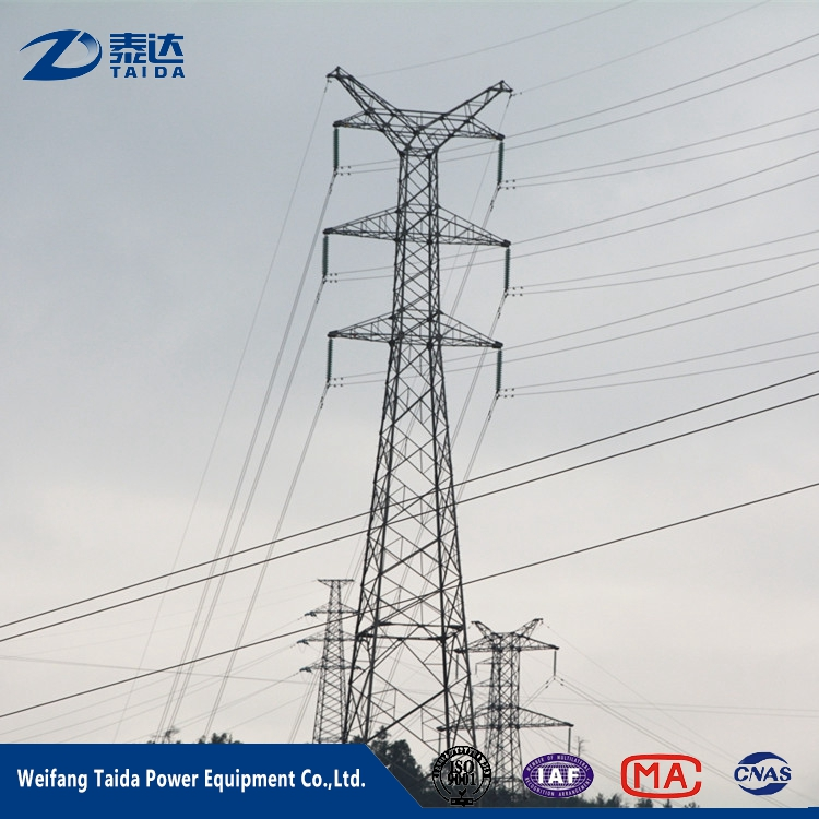 220KV Electric Power Transmission Line Steel Lattice Tower