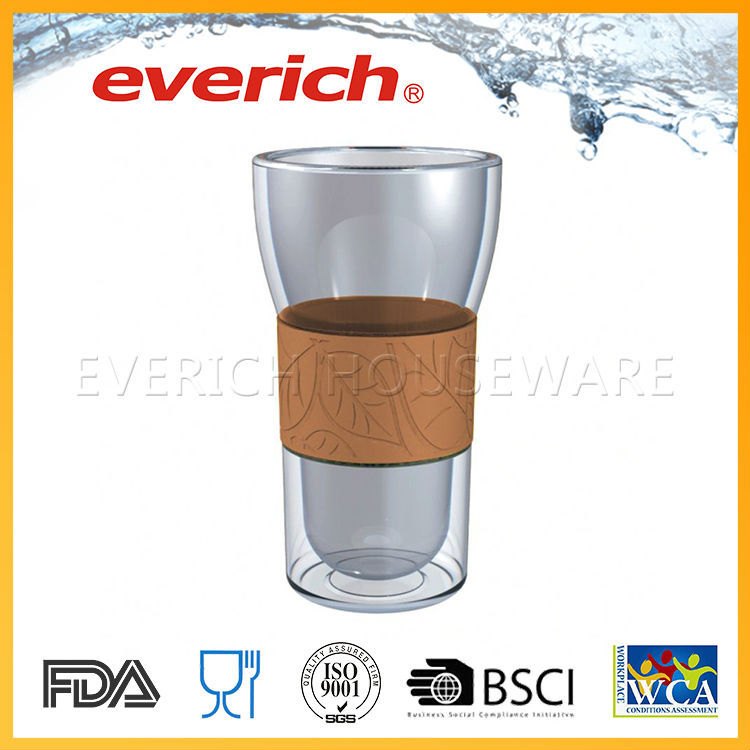 Double Wall Unbreakable High Quality Round Drinking Glass Tumbler